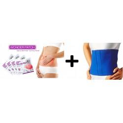 Pachet promo: Plasturi abdominali pentru slabit + Centura neopren pentru slabit reglabila de la S la XXXL