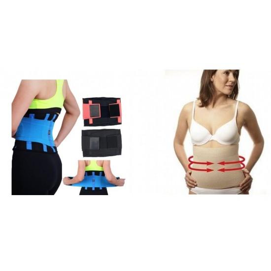 1+1 Centura modelatoare si pentru slabit Hot Power Belt &  Centura pentru abdomen Invisible Tummy Trimmer Modelatoare corporale