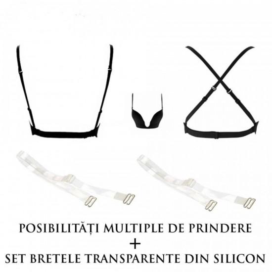 Sutien Decolteu Adanc + Bretele Silicon